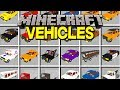 Minecraft VEHICLES MOD! | 100+ NEW CARS, TRUCKS, POLICE CARS, & MORE! | Modded Mini-Game