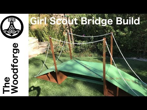 DIY Girl Scout Bridge!