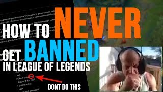 HOW TO NEVER GET BANNED IN LEAUGE OF LEGENDS (100% WORKS)