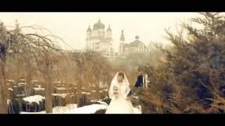 Виктория и Николай. Свадебная прогулка зимой. Видеограф, свадебное видео