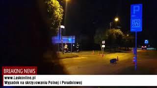 Wypadek na skrzyżowaniu Polnej i Południowej