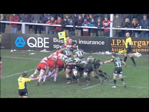 Gloucester Rugby 27-24 Northampton Saints - Aviva Premiership Rugby Highlights Round 14 | 11-02-12