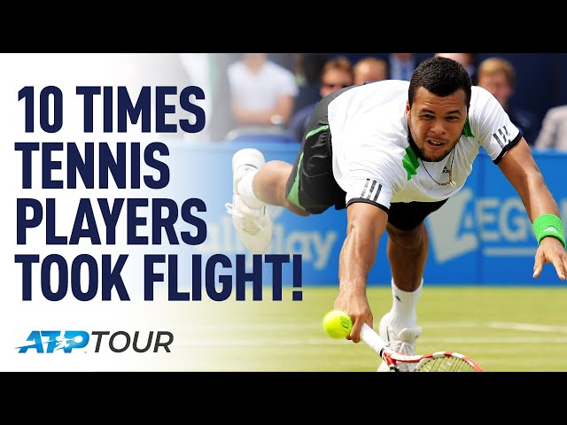 10 Times Tennis Players FLEW Across Court | TOP 10 | ATP
