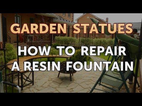 How to Repair a Resin Fountain