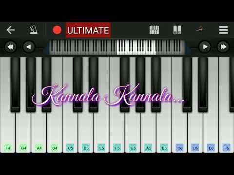 Kannala Kannala song - Thani Oruvan |piano tutorial