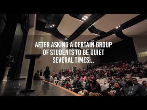 Motivational speaker Eric Thomas gets disrespected by highschoolers