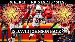 2018 Fantasy Football Lineup Advice  - Week 11 RB