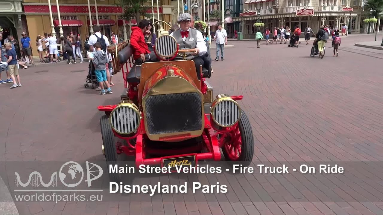 Main Street Vehicles Fire Truck Disneyland Paris plete
