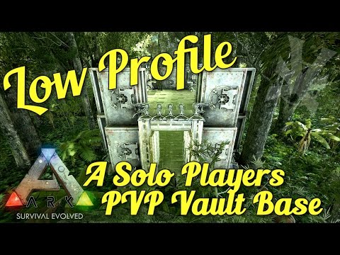 The Solo Vault Base! | Low Profile PVP Build Guide | ARK: Survival Evolved