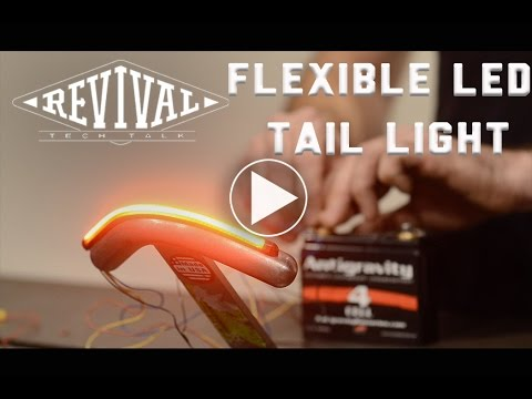 Flexible Brake and Turn Signal LED - Revival Cycles Tech Talk