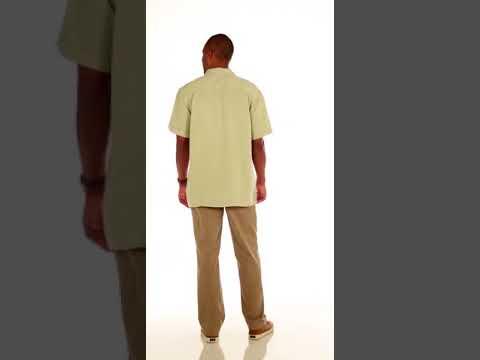 cd5b37dfc79 Harriton M575 Mens Two-Tone Bahama Cord Camp Shirt Buy at ApparelnBags.com