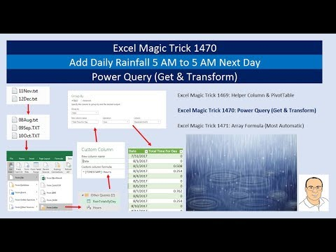 Excel Magic Trick 1470: Power Query (Get & Transform) Add Da