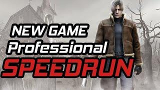 Resident Evil 4 New Game Professional Speedrun in 1:26:08
