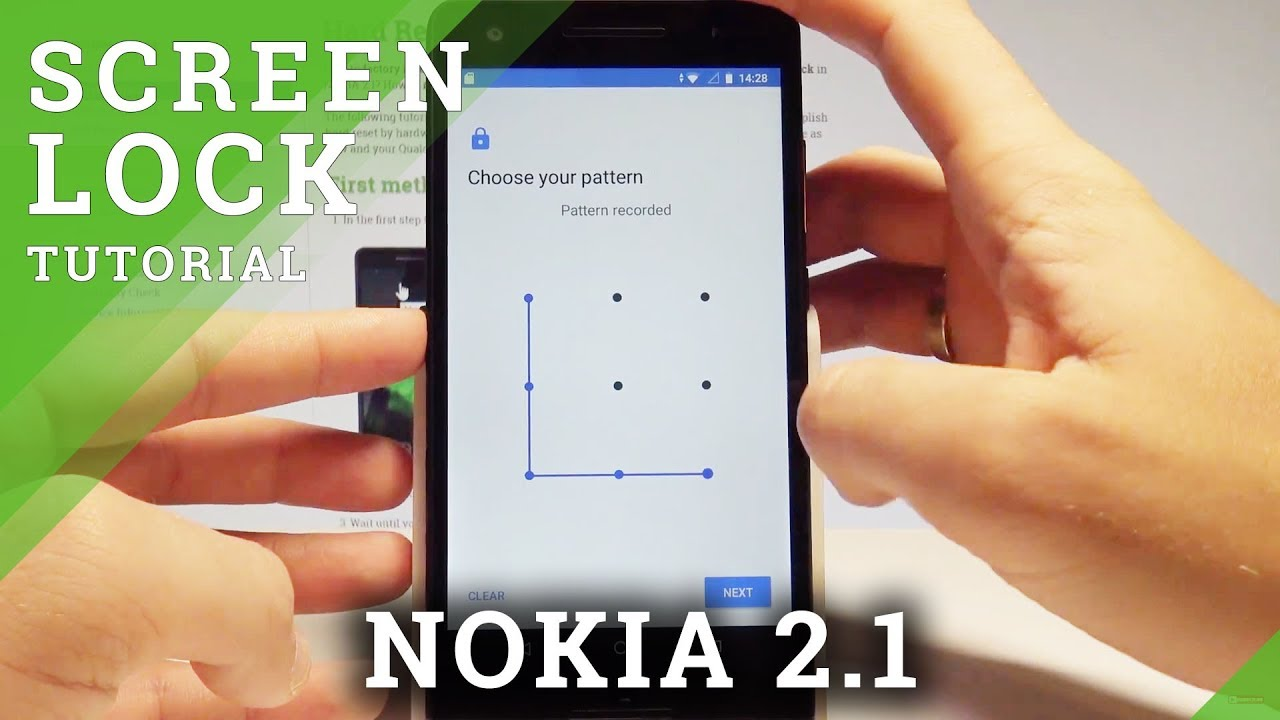 How To Set Up Screen Lock On Nokia 2 1 Add Pattern Set Up Password Youtube
