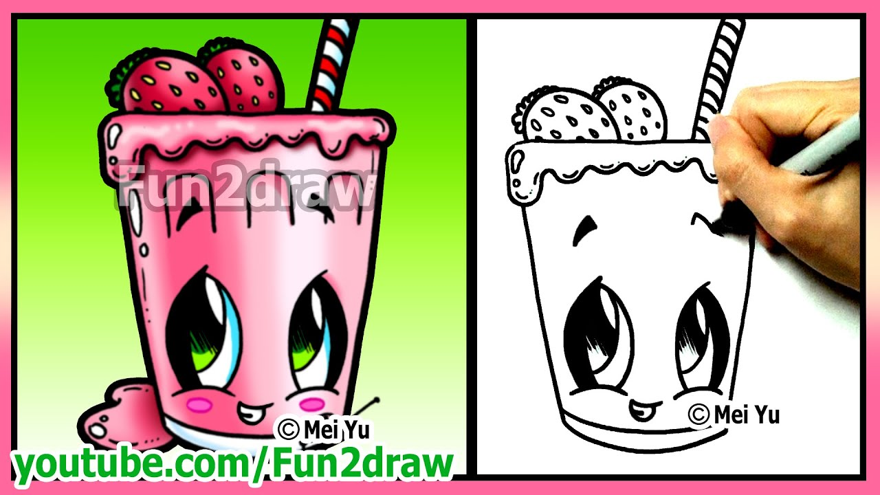 How To Draw Easy Things Fruit Smoothie Funny Extra