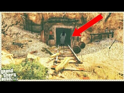 GTA 5/ Going into the mine shaft     DEAD BODY