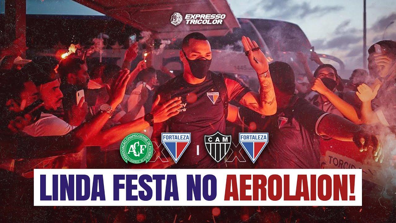 ✈️ FOMOS NO AEROLAION | TORCIDA FAZ LINDA FESTA NO EMBARQUE DO FORTALEZA | Expresso Tricolor