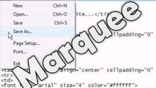 HTML Tutorial - Scrolling Content (Marquee Tag)