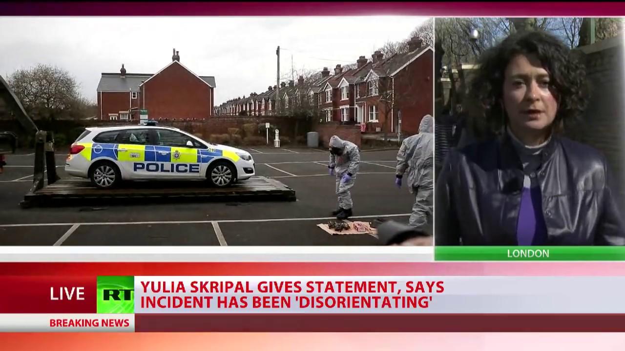 Yulia Skripal issues statement