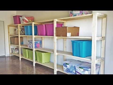 Diy garage shelving youtube diy garage shelving solutioingenieria Choice Image