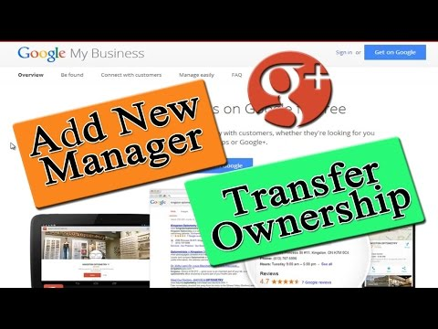 How To Transfer Ownership Of A Google Plus Page - Add Manager - Google My Business
