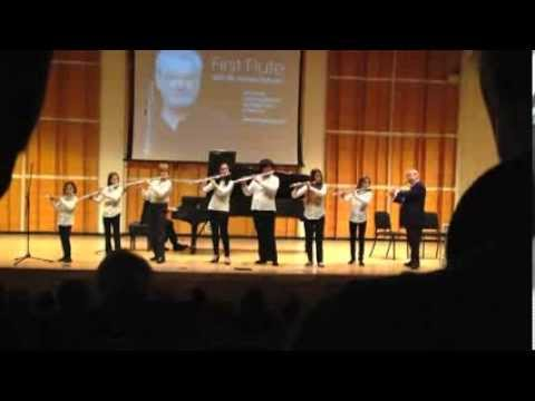 Ella Cohen Flute Ensamble with Sir James Galway Carnegie Hall Dec 2012