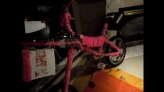 Pink Fur Chopper Bike with Speakers