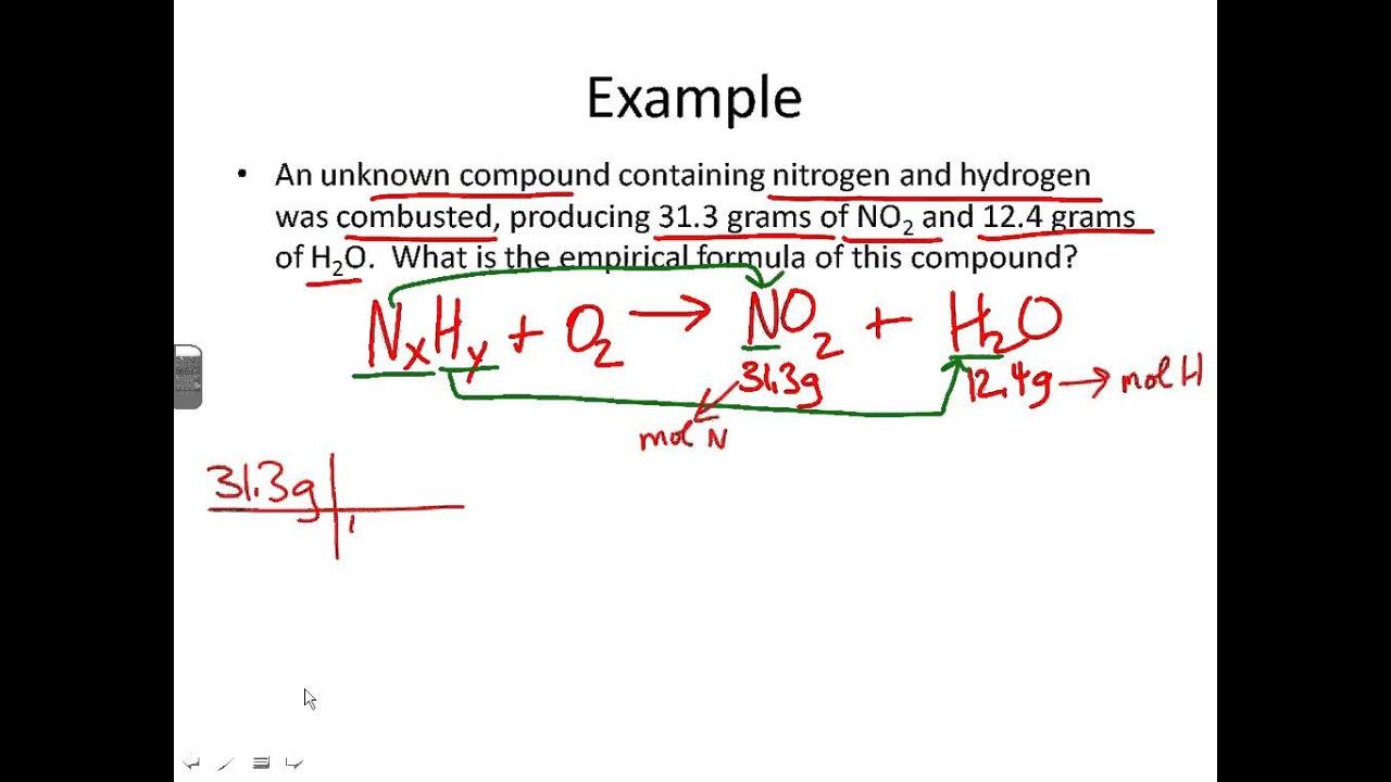 worksheet Combustion Analysis Worksheet empirical formula from combustion analysis youtube analysis