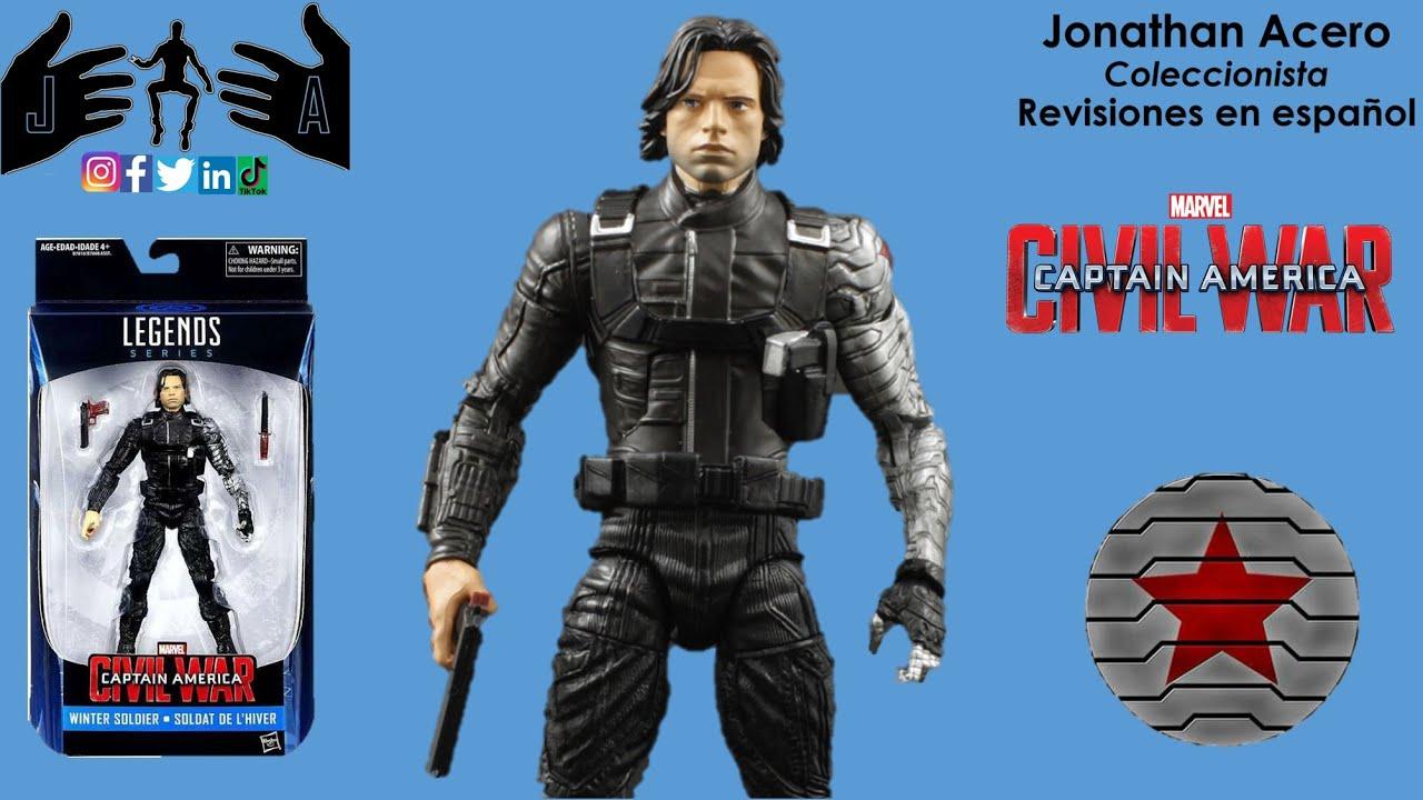 Winter Soldier Soldado del Invierno Marvel Legends Jonathan Acero Revisión en Español.