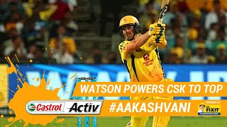 #IPL2019: WATSON takes CSK to PLAYOFFS: 'Castrol Activ' #AakashVani, powered by 'Dr. Fixit'