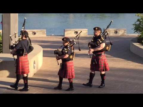 Saskatoon Police Pipes & Drums perform at River Landing