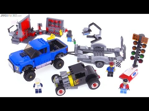 lego speed champions ford f150 raptor amp model a hot rod
