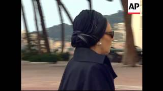 Arrivals for funeral of Prince Rainier
