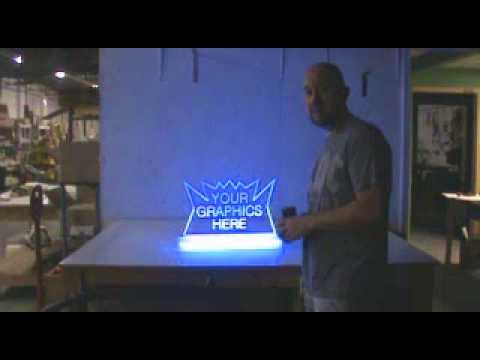 Glowing Edge Lit Acrylic Sign Base Holders Youtube