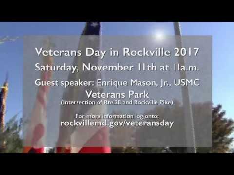 2017 Veterans Day in Rockville