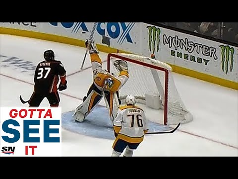 GOTTA SEE IT: Rinne Makes Ridiculous One Of A Kind Save, Keeps Predators Tied