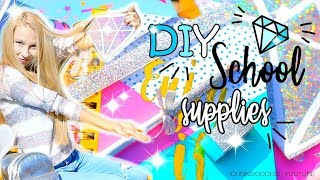 How To Make A Diamond Notebook And Glitter School Supplies – DIY Holographic Back-To-School