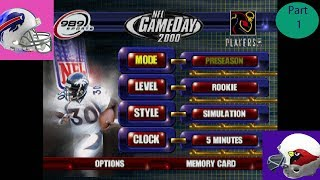 NFL Gameday 2000 Bills Vs Cardinals Part 1