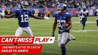 Sterling Shepard Snags the Quick Toss & Goes 67 Yards for TD! | Can