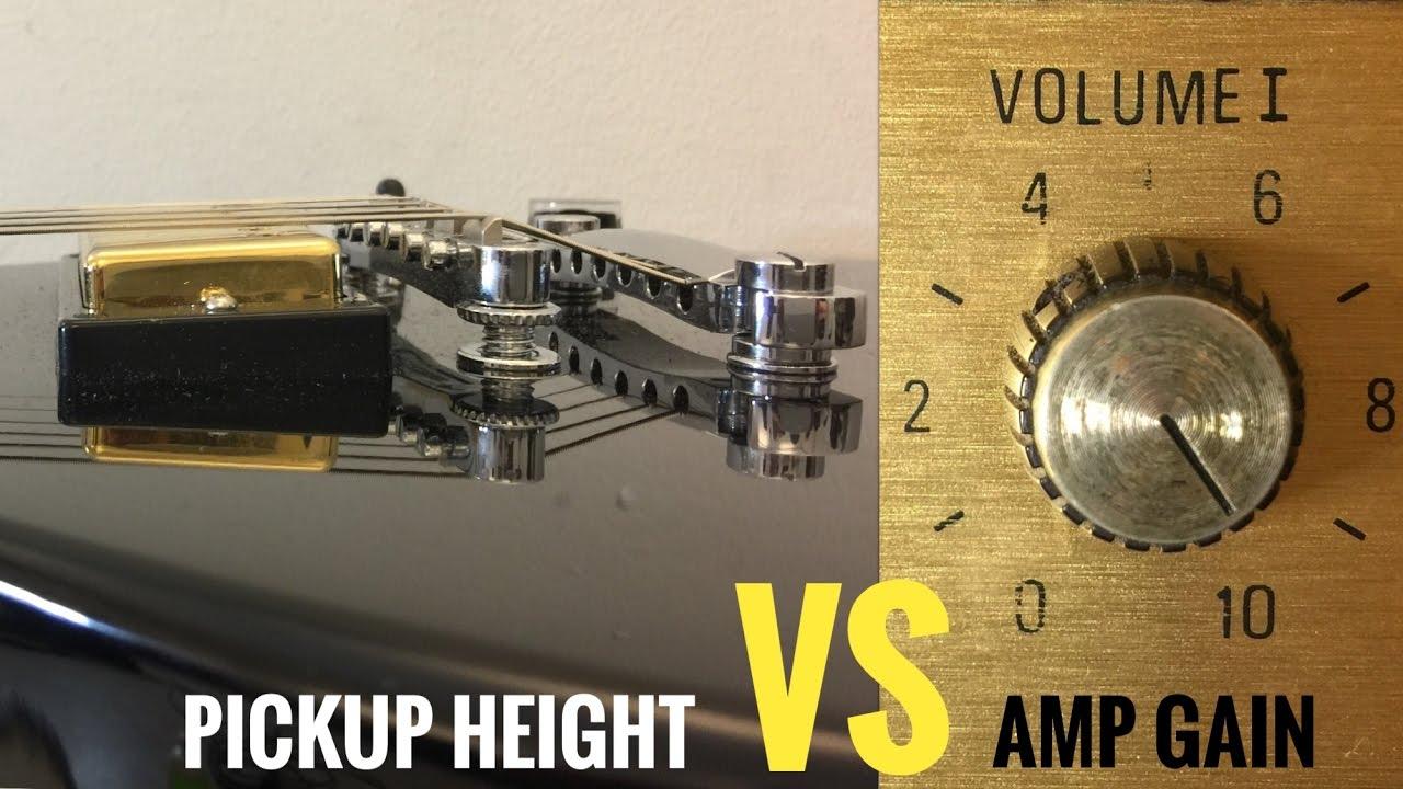 guitar pickup height vs amp gain youtube. Black Bedroom Furniture Sets. Home Design Ideas