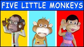 Five Little Monkeys Jumping On The Bed - Children's Song/nursery Rhyme For Babies, Toddlers & Kids.