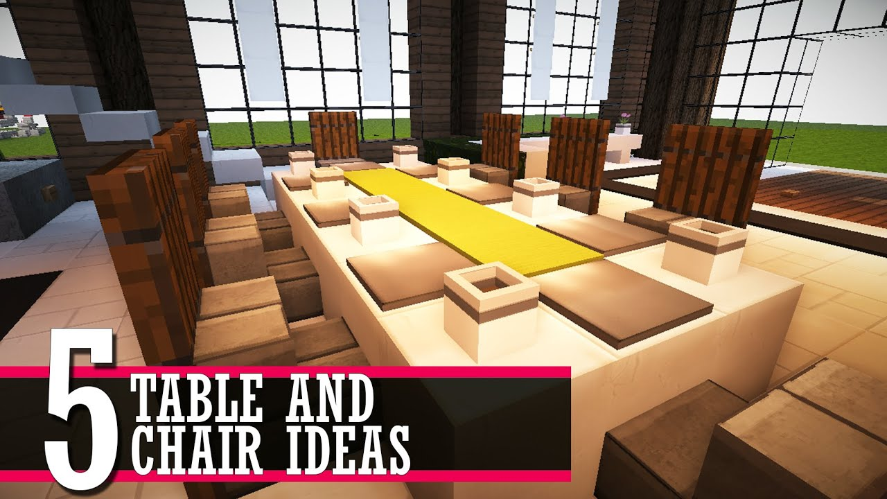 Furniture Design Minecraft 5 table and chair design ideas (minecraft furniture tutorial