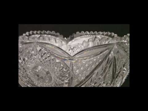 American Rich Crystal Punch Bowl.wmv
