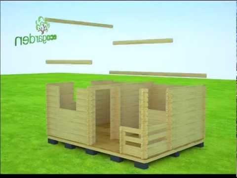 видео: Садовый домик 2 в 1,  (5х3,8 м). Для любых нужд. 3d Сборка!