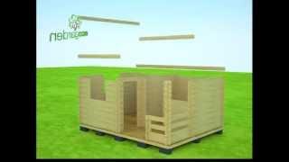 Садовый домик 2 в 1,  (5х3,8 м). Для любых нужд. 3D Сборка!(Садовый, дачный домик для любых хозяйственных нужд. Все садовые дома от производителя - http://экогарден.рф..., 2012-12-20T10:30:10.000Z)