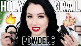 My ALL TIME FAVORITE Setting Powders! Drugstore & High End | Oily, Dry & Normal Skin thumbnail