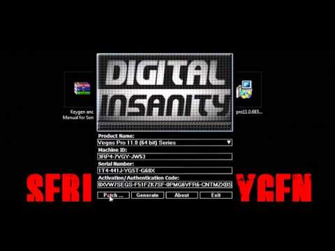 ขอ authentication code sony vegas pro 11