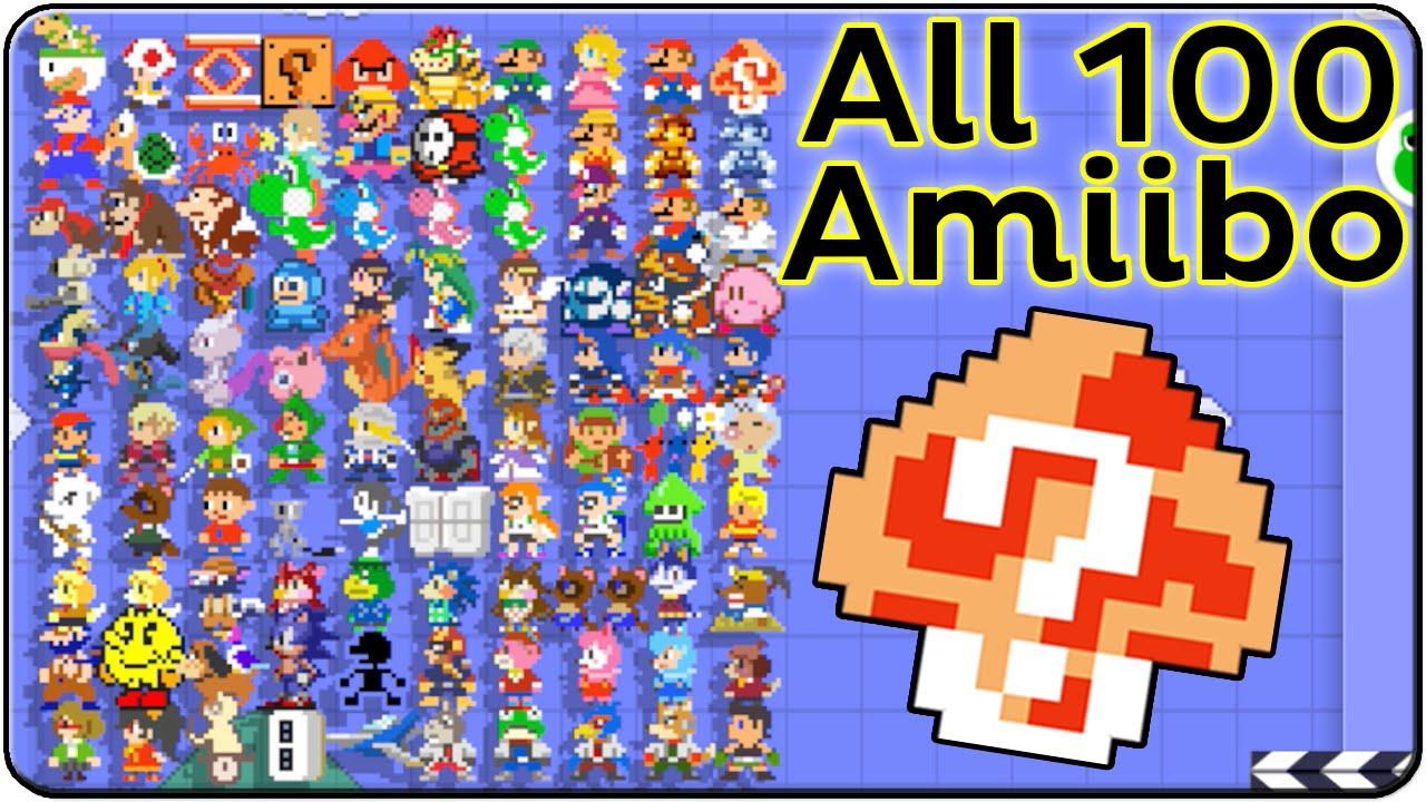 Super Mario Maker All Amiibo Costumes (Death & Victory Themes)