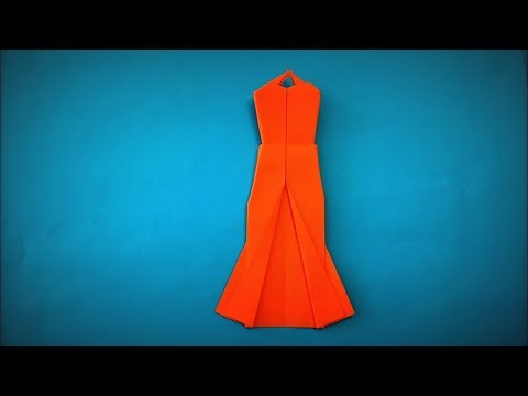 How to Make a Paper Dress for Girls DIY - Easy Origami Step by Step