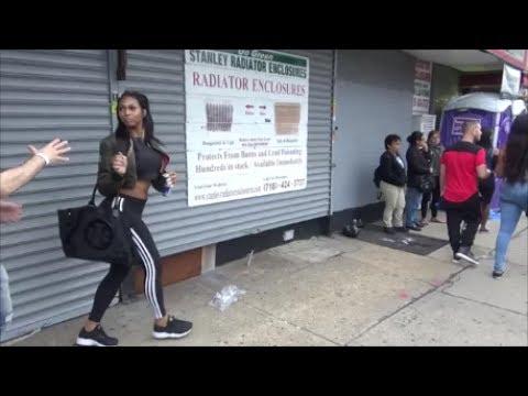 AMAZINGLY BEAUTIFUL HOT LATINA HISPANIC BLACK GIRL AT QUEENS LGBT PRIDE PARADE 2017 NEW YORK
